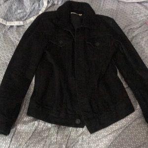 ALLSAINTS Black collar Sherpa Denim jacket XS